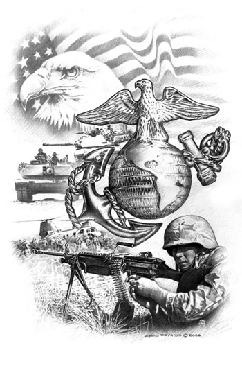 military coloring pages iraq | Military Prints - Abel Reynoso Police & Military Art Studio
